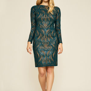 Vibiana Embroidered Sequin Dress